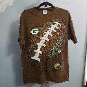 Vintage Green Bay Packers Graphic Football T Shirt